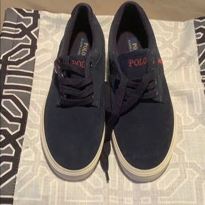 Navy blue Ralph Loren polo sneakers